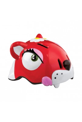 Kask rowerowy CRAZY STUFF Czerwony Kot